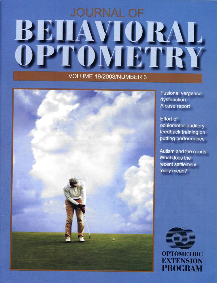 optometry research paper Academy update: dry eye research  a wealth of new information came out at the 2014 american academy of optometry meeting in denver  one paper.